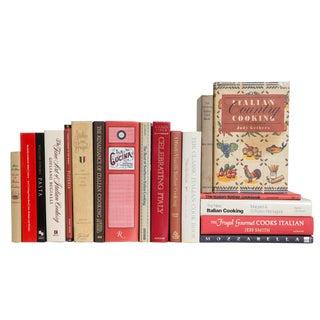 Italian Cuisine Cook Book Set, (S/18) For Sale