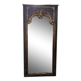Vintage Floor Length Beveled Mirror For Sale