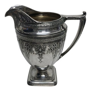 1950s Silverplate Pitcher by Derby Silverplate Co For Sale
