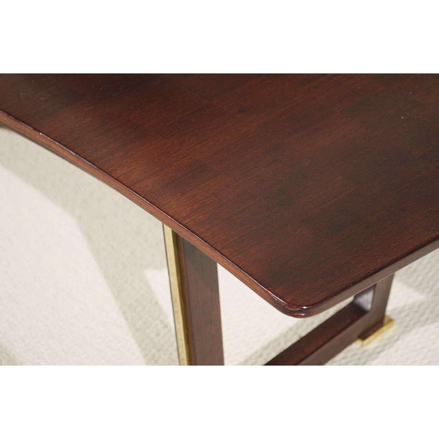 Bronze Jules Leleu Rosewood Table For Sale - Image 7 of 9