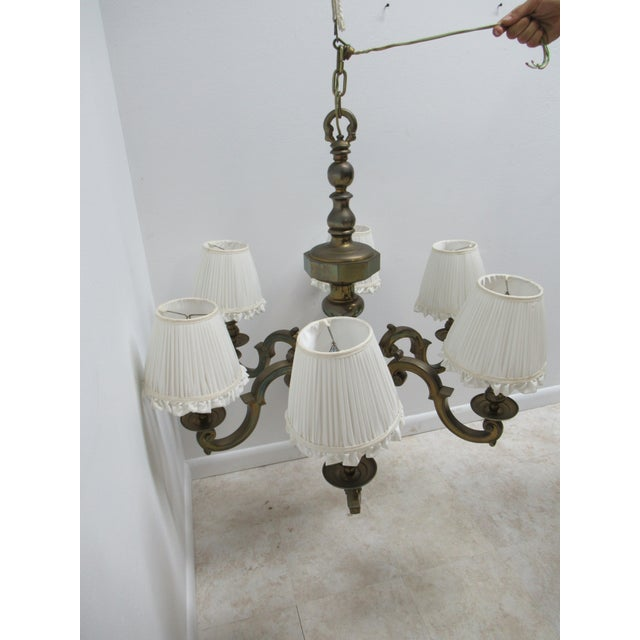 French 1974 Vintage Chapman Brass French Monumental Chandeliers - a Pair For Sale - Image 3 of 13