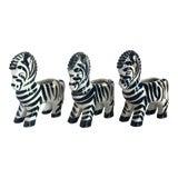 Image of 1950s Vintage Zebra Ceramic Mini-Planters-Set of 3 For Sale