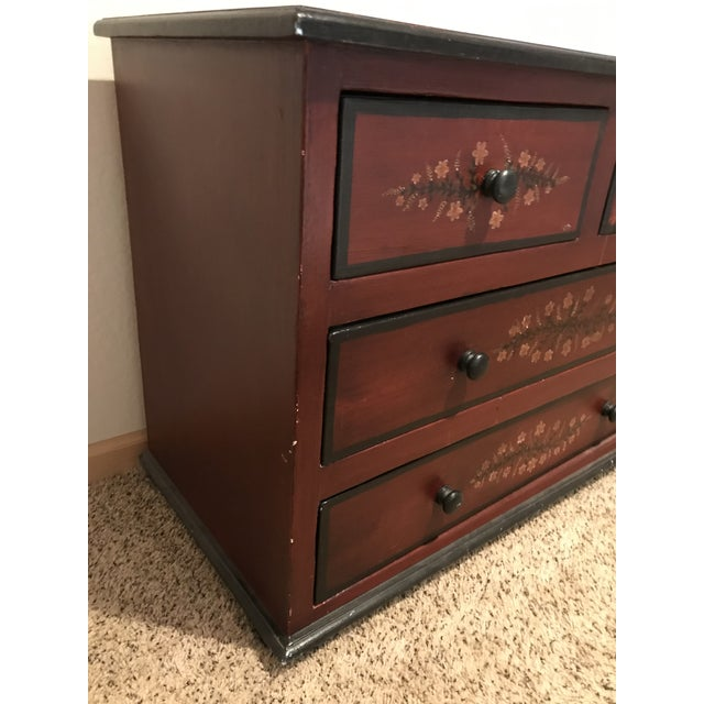 Alpine-style hand painted dresser with beautiful floral motif for your cabin in the woods or house in the country. Very...