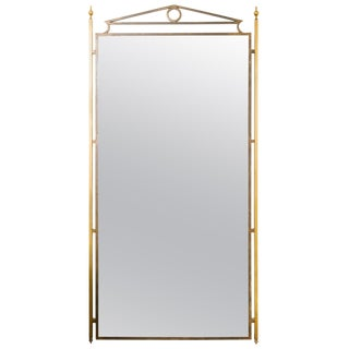 1970s Directoire Brass and Iron Pier Mirror For Sale