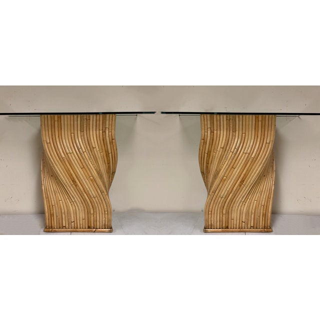 Pair of Pencil Bamboo Modern Console Tables Att. To Crespi For Sale - Image 9 of 10