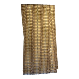 Samuel & Sons Orsay Silk Ribbed Border Trim Gold - Remnant Piece For Sale