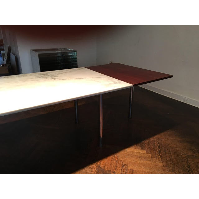 1950s Elaine Lustig Cohen Marble Extension Dining Table For Sale - Image 5 of 9