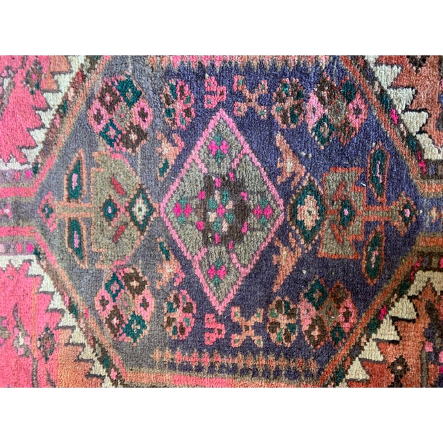 Textile Vintage Persian Serapi Heriz Area Rug- 3′3″ × 3′8″ For Sale - Image 7 of 8