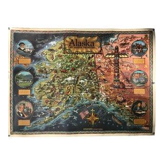 Vintage Alaska: Far North Frontier Map Poster For Sale