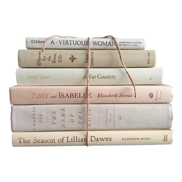 Literary Cream & White Fiction Hardbound Books - Set of 6 - Image 1 of 3