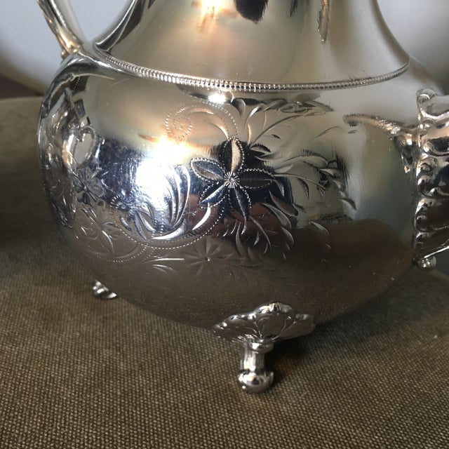 Late 19th Century 19th Century Victorian Homan Silver Co. Silver Plated Coffee Service - 3 Pieces For Sale - Image 5 of 10