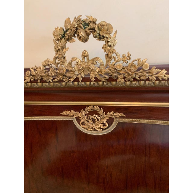 Francois Linke Signed Mahogany and Gilt Bronze Queen Size Bed For Sale In New York - Image 6 of 12