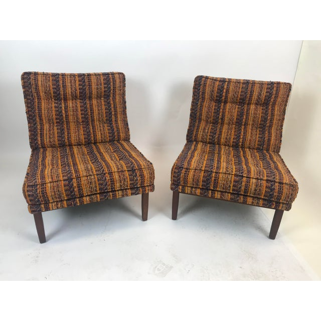 Early Florence Knoll Lounge Slipper Chairs - a Pair For Sale - Image 12 of 12