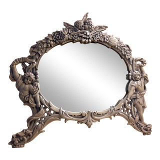 Vintage Hollywood Regency Table Mirror For Sale