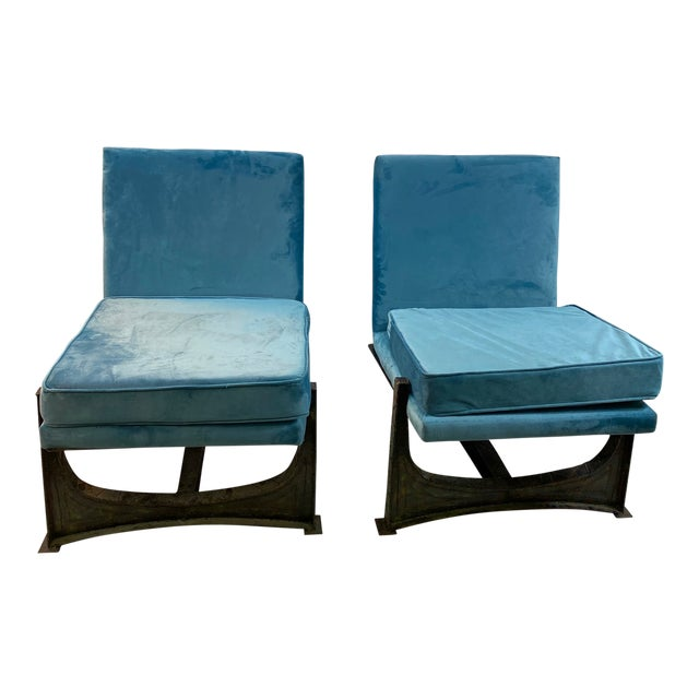 Paul Evans Style Studio Chairs- A Pair For Sale