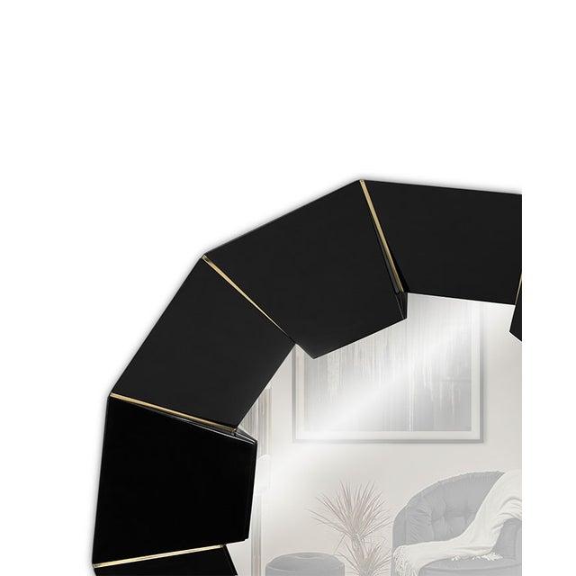 Black Darian Black Mirror From Covet Paris For Sale - Image 8 of 9