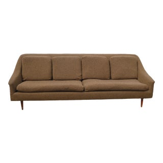 Vintage Mid Century Modern Brown Sofa Couch Folke Ohlsson for Dux Style For Sale