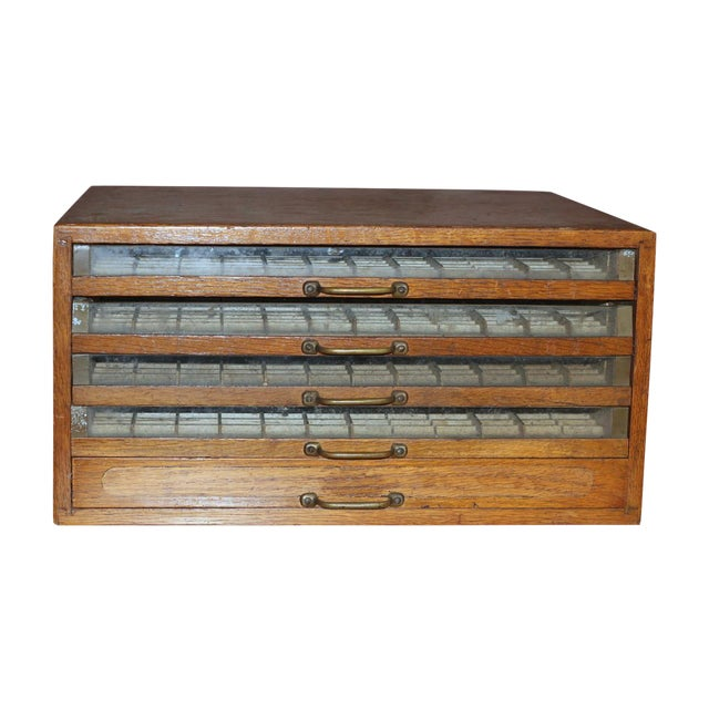 Antique Early 1900's Spool Display Cabinet For Sale