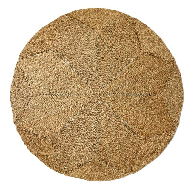 English Rush House for Chairish Monte Vista Round Seagrass Rug For Sale - Image 3 of 4