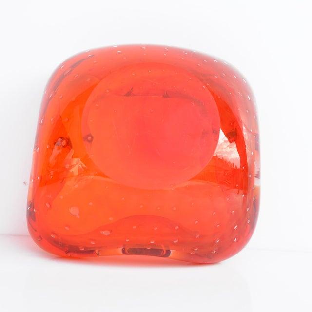 Galliano Ferro Italian Design Galliano Ferro Murano Glass Ashtray For Sale - Image 4 of 9