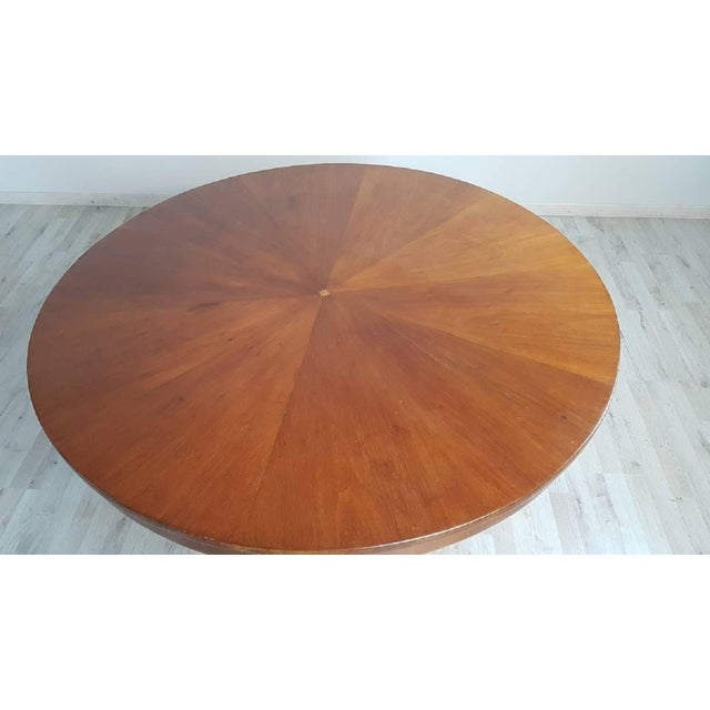 Early 19th Century 19th Century Italian Empire Walnut Carved Inlay Round Table For Sale - Image 5 of 13