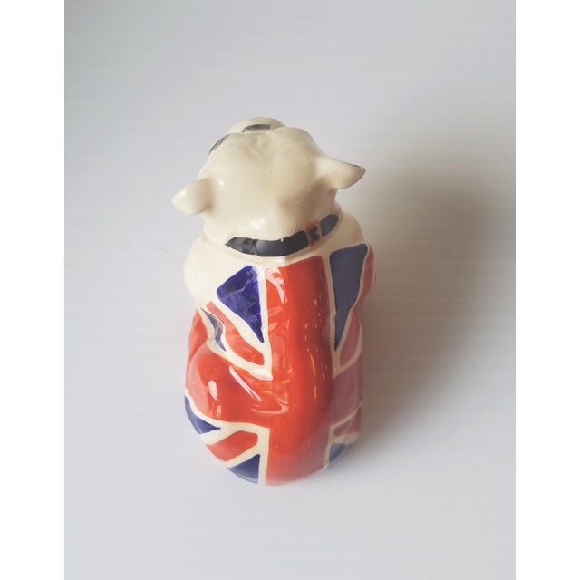 1940s Royal Doulton Winston Churchill English Bulldogs / Union Jack Bulldogs - Set of 3 For Sale - Image 9 of 13