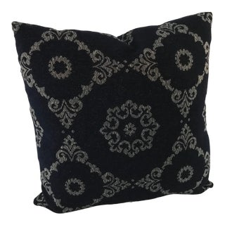 "Stroheim Indoor Outdoor New Navy & White 18"" Pillow For Sale"