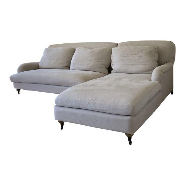 Cool Restoration Hardware Modern Linen Sectional Sofa Unemploymentrelief Wooden Chair Designs For Living Room Unemploymentrelieforg