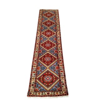 1960s Vintage Handmade Persian Runner - 2′3″ × 9′2″ For Sale