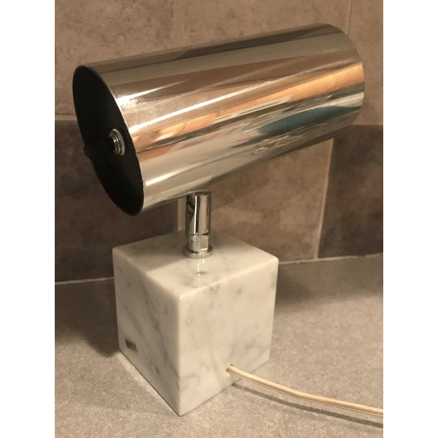 Mid-Century Modern 1960s Vintage Koch & Lowy Carrera Marble Base Table Lamp For Sale - Image 3 of 10