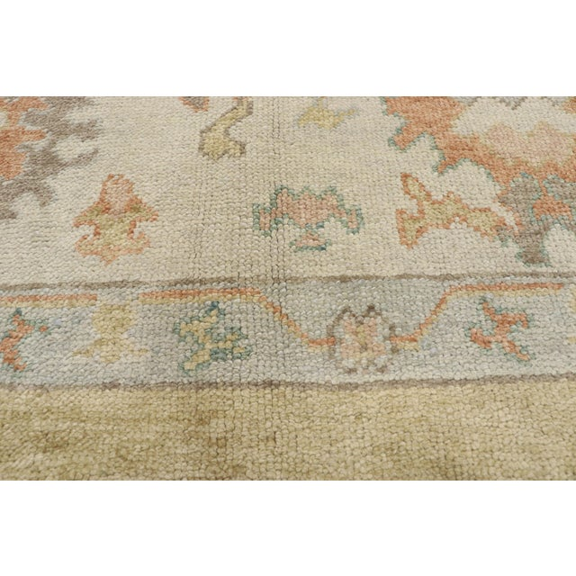 Contemporary Turkish Oushak Rug - 10′2″ × 13′2″ For Sale - Image 4 of 10