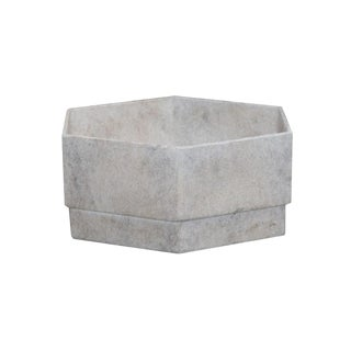 Hex 1 Planter in French Grey For Sale