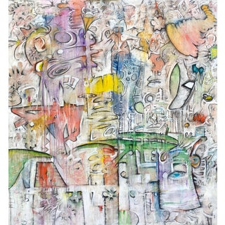"""Abstract """"Innervisions"""" Original Artwork by Bruce Rubenstein For Sale"""