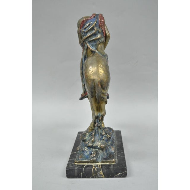 Austrian Cold Painted Bronze End of Trail Statue Sculpture After James Fraser For Sale - Image 4 of 11