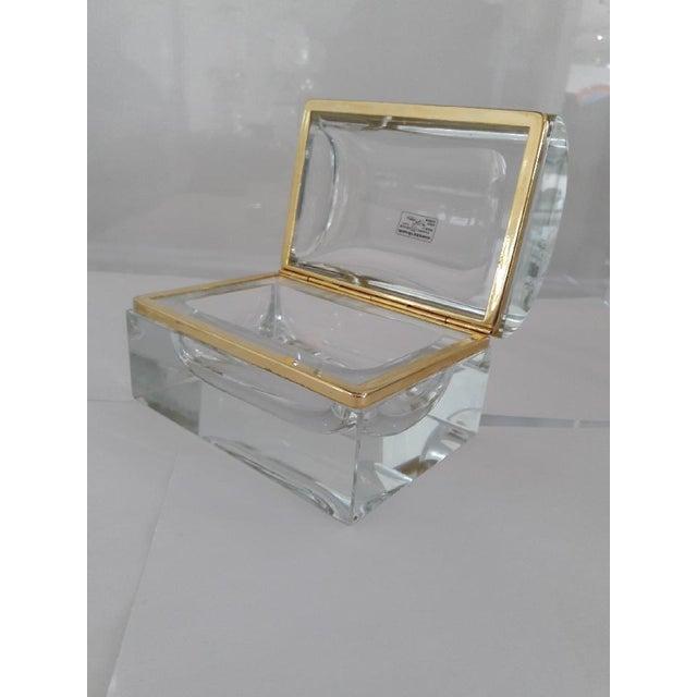 Gold Vintage Murano Glass Box- Mandruzzato For Sale - Image 8 of 11