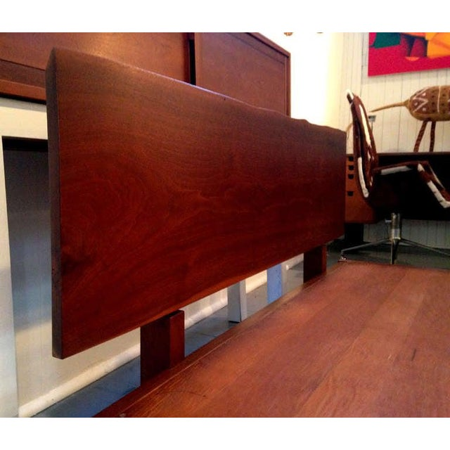 Platform Bed With Walnut Headboard in the Style of George Nakashima For Sale In Atlanta - Image 6 of 11