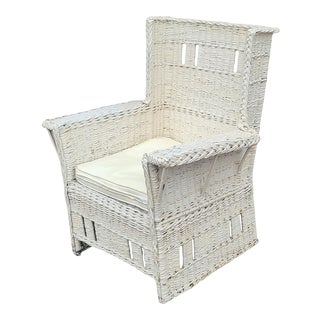 Fine Quality Antique Victorian Wicker Armchair, C1900 For Sale