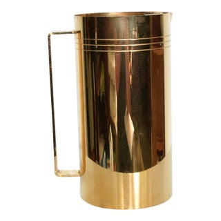 Mid Century Modernist Gold Plated Pitcher 24k-Gp, Parzinger Era. For Sale