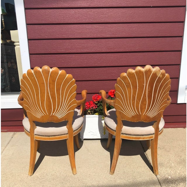 1980s Italian Seashell Chairs- a Pair For Sale - Image 5 of 9
