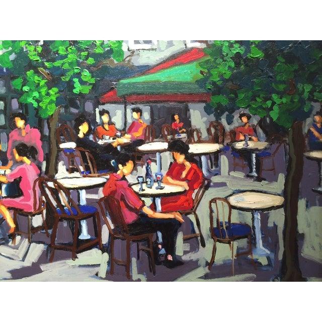 Yvonne Mora Yvonne Mora, Paris Café Painting, 2013 For Sale - Image 4 of 6