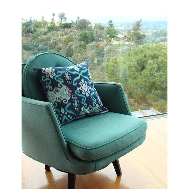 """Handwoven Balinese Indigo """"Karma Tosca"""" Pillow - Image 3 of 3"""