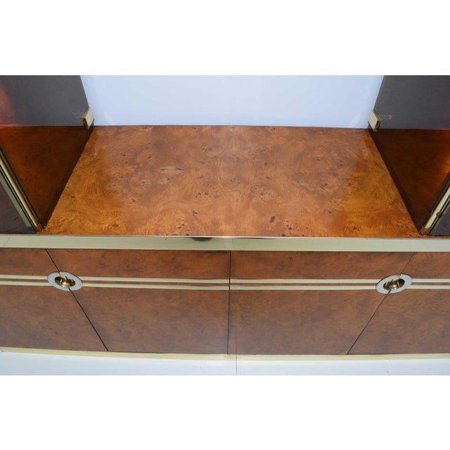 1970s Pierre Cardin Signed Burl Wood Sideboard With Two Tower Cabinets, France For Sale - Image 10 of 13