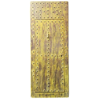 Moroccan Yellow Wooden Door For Sale