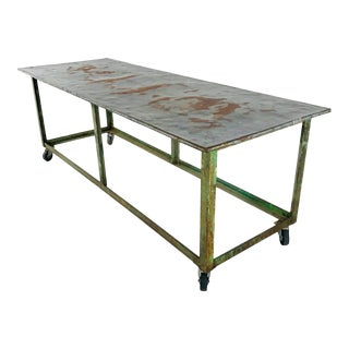 Vintage Industrial Display Table For Sale
