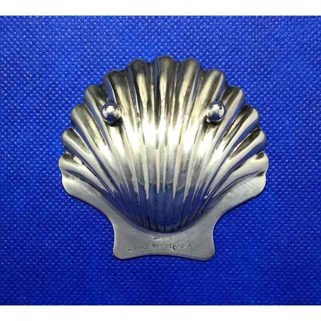 Mid 20th Century Cartier Sterling Silver Seashell Serving Dishes - Set of 5 For Sale - Image 5 of 9