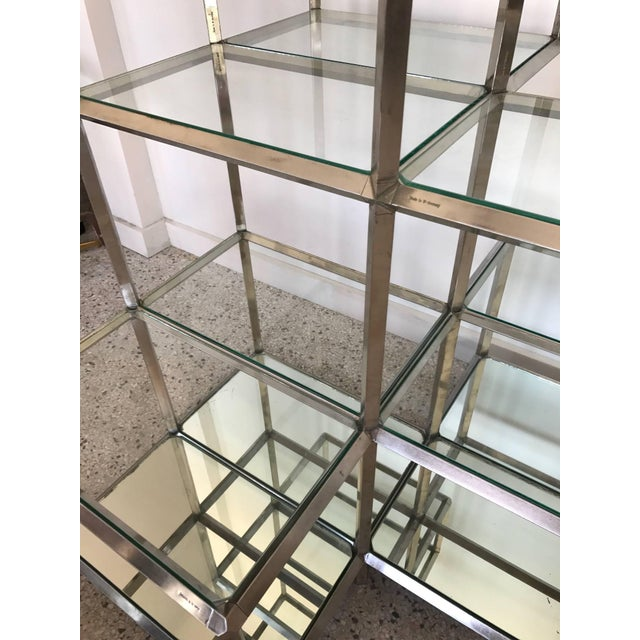 Modern 1960s Modern Chrome Etagere For Sale - Image 3 of 11