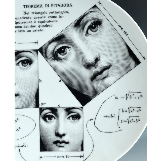 Fornasetti Tema E Variazioni Plate, Number 183 - Image 3 of 3