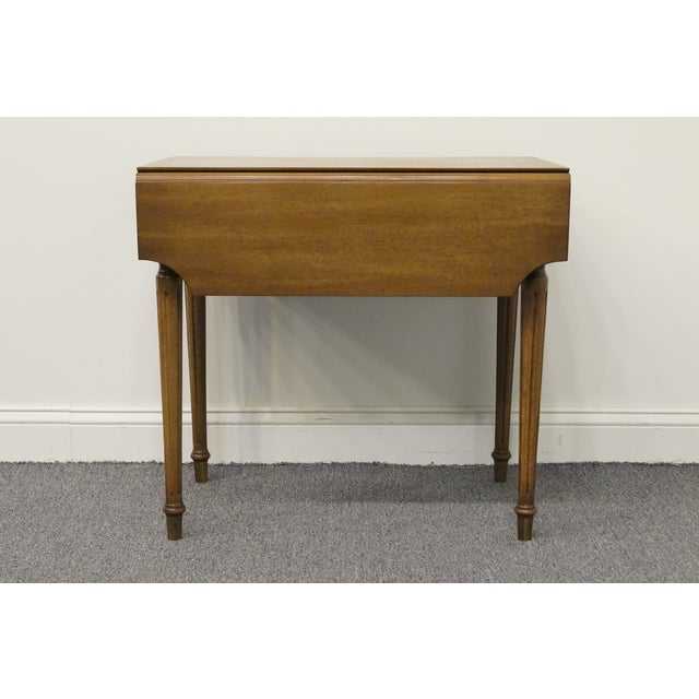 20th Century Traditional Columbia Manufacturing Mahogany Pembroke End Table For Sale - Image 10 of 13