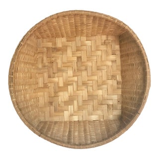 Round Woven Gathering Basket For Sale