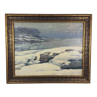 Snow Scene Impressionist Oil Painting For Sale